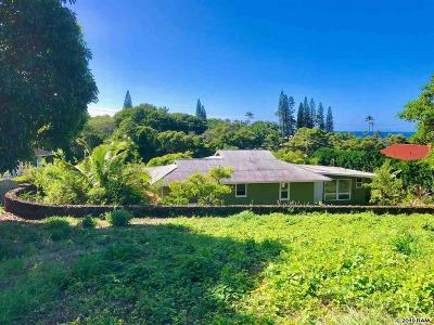 Single Family Home For Sale: 5106 Lower Honoapiilani Rd