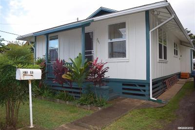 Wailuku Single Family Home Cntngnt Escrow Canceling: 261 Ea St