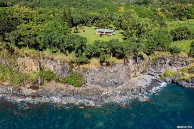 Hana Single Family Home For Sale: 39606 Hana Hwy