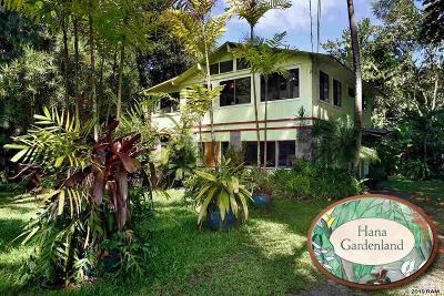 Hana Single Family Home For Sale: 65 Kalo Rd