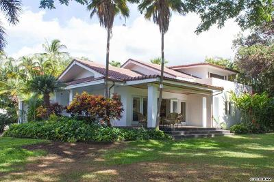 Maui County Single Family Home For Sale: 3066 Manu Hope Pl #Lot 133