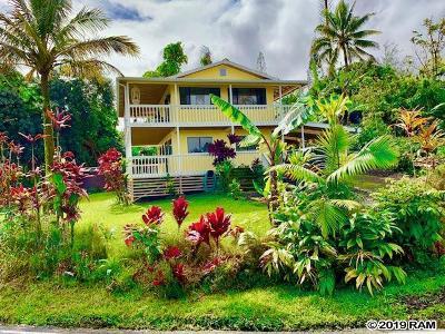 Hana Single Family Home For Sale: 1130 Hana Hwy