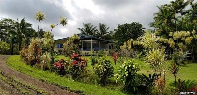 Hana Single Family Home For Sale: 241 Ulaino Rd