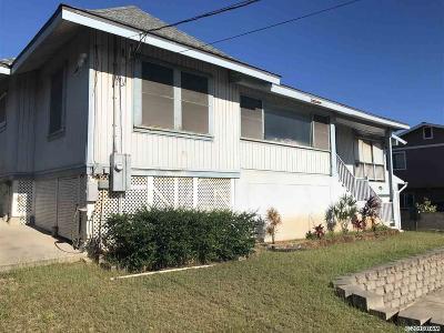 Wailuku Single Family Home For Sale: 171 Halenani St #Old Sand