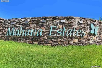 Lahaina Residential Lots & Land For Sale: 840 Mahana Ridge Pl #51