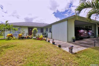 Wailuku Single Family Home For Sale: 682 Hilinai St