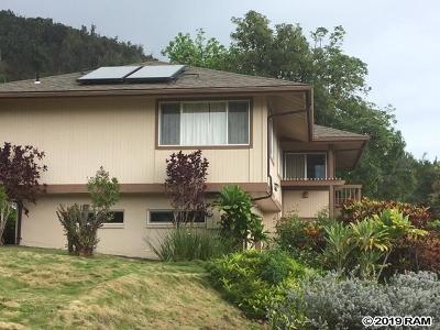 Wailuku Single Family Home For Sale: 486 Polulani St
