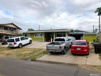 Kahului HI Single Family Home For Sale: $895,000