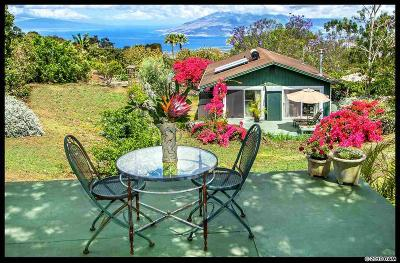 Kula Single Family Home For Sale: 10875 Kula Hwy