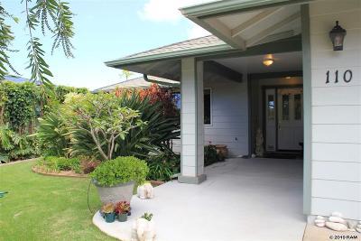 Single Family Home For Sale: 110 Haahaa St
