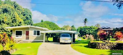 Haiku Single Family Home For Sale: 1081 Kokomo Rd