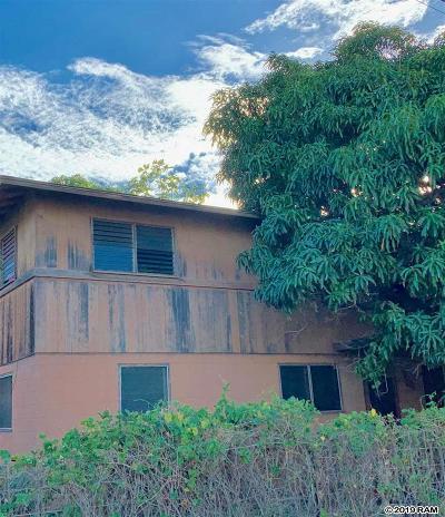 Wailuku Single Family Home For Sale: 285 Mamo Pl