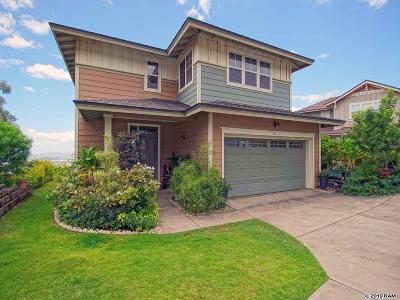 Wailuku Single Family Home For Sale: 8 Kinohi Loa St