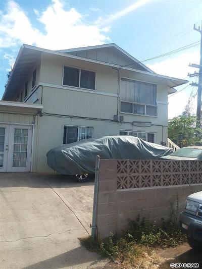 Wailuku Single Family Home For Sale: 1461 Honoapiilani Hwy