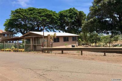 Wailuku Single Family Home For Sale: 1673 Piihana Rd