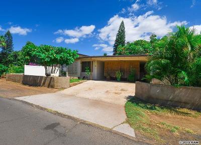 Maui County Single Family Home For Sale: 20 W Welakahao Rd #27