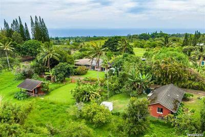 Maui County Single Family Home For Sale: 485 Kawelo Rd
