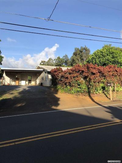 Haiku Single Family Home For Sale: 1255 W Kuiaha Rd