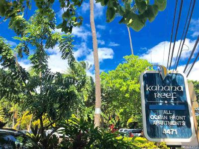 Condo/Townhouse For Sale: 4471 Lower Honoapiilani #108 Rd # 108
