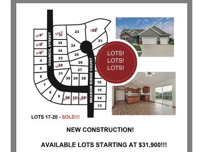 Anamosa Residential Lots & Land For Sale: Lot 30 Meadow Ridge 8th Addition