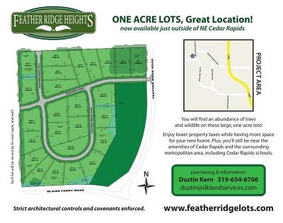 Cedar Rapids Residential Lots & Land For Sale: Feather Ridge Pass