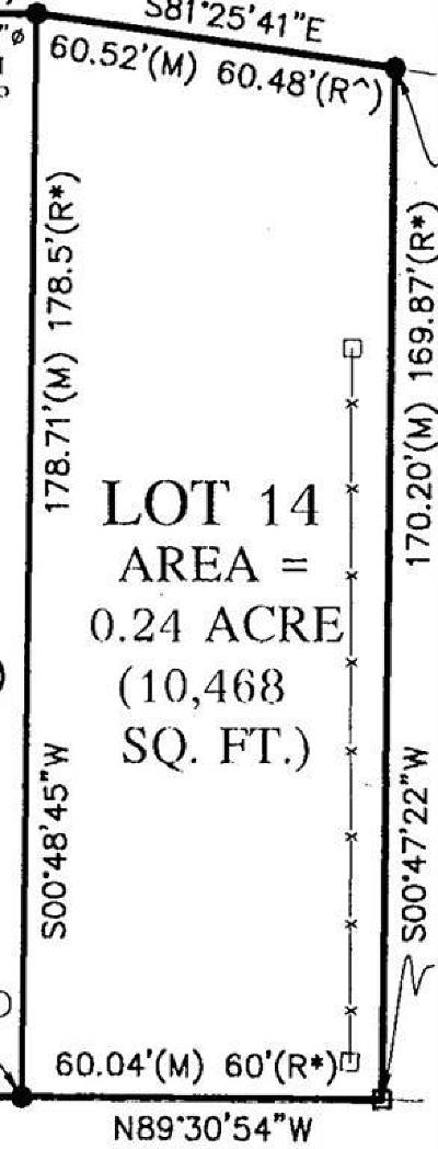 Iowa City Residential Lots & Land For Sale: Lot 14 McLean Street