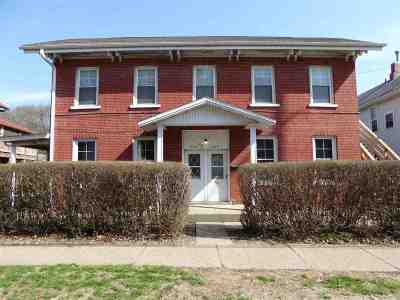 Dubuque, Asbury, Bellevue, Guttenberg, Baldwin, Holy Cross, Sherrill, Peosta, Dyersville, Farley, Bernard, East Dubuque, Epworth Multi Family Home For Sale: 509 W Locust Street