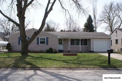Mason City Single Family Home For Sale: 1033 Manor Dr