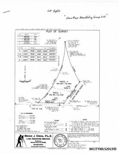 Mason City Land For Sale: 1410 S Monroe