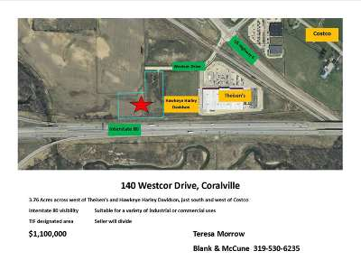 Coralville Residential Lots & Land For Sale: 140 Westcor Dr