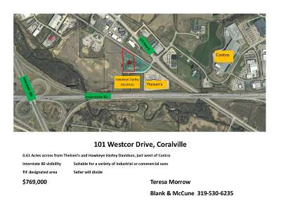 Coralville Residential Lots & Land For Sale: 101 Westcor Dr