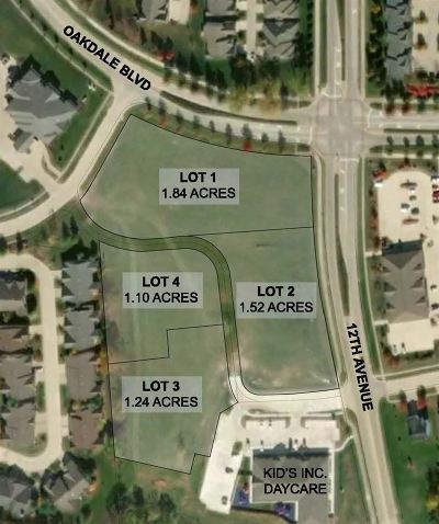 Coralville Residential Lots & Land For Sale: Lot 1 * Oakdale Commons