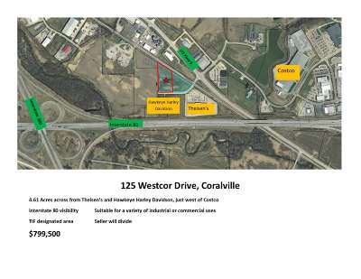 Coralville Residential Lots & Land For Sale: 125 Westcor Dr