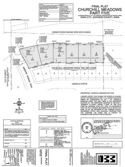 Iowa City Residential Lots & Land For Sale: Lt 1 Churchill Meadows Part 5
