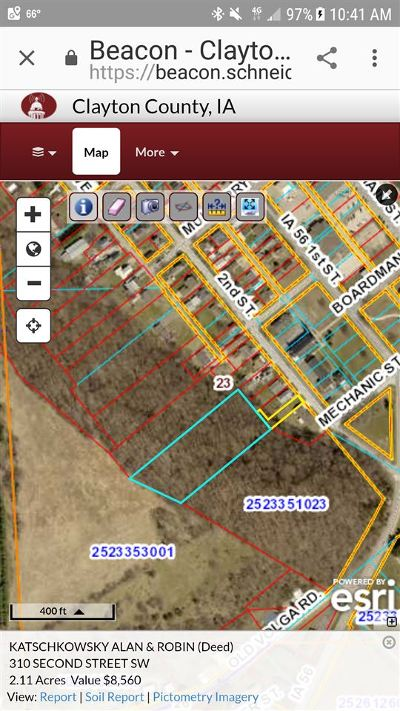 Lamont, Colesburg, Edgewood, Elkader, Guttenberg, Strawberry Point Residential Lots & Land For Sale: 310 SW Elkader