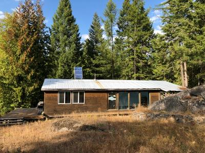 Sandpoint Single Family Home For Sale: 634 W Gold Creek Ridge Road