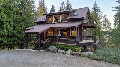 Sandpoint Single Family Home For Sale: 53 Kootenai View Rd