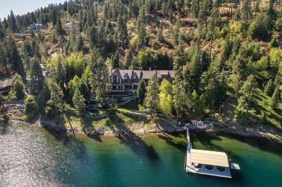 Coeur D'alene, Dalton Gardens Single Family Home For Sale: 4736 S Threemile Point Rd