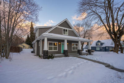 Coeur D'alene Single Family Home For Sale: 1302 N C St