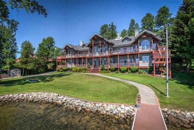 Sandpoint ID Single Family Home For Sale: $2,400,000