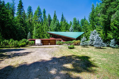 Sandpoint Single Family Home For Sale: 4382 Upper Gold Creek Rd
