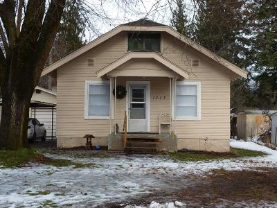 Coeur D'alene Single Family Home For Sale: 1213 E Wallace Ave