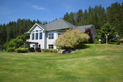Bonners Ferry Single Family Home For Sale: 7531 Wildhorse Ln
