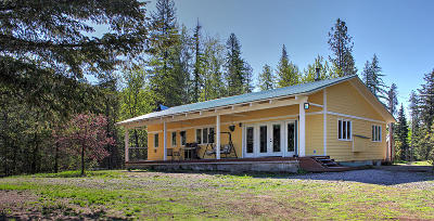 Sandpoint Single Family Home For Sale: 7644 Upper Pack River Rd