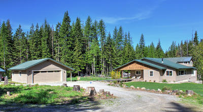 Sandpoint Single Family Home For Sale: 2423 Flume Creek Rd