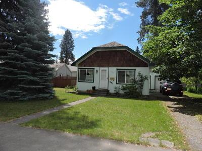 Coeur D'alene Single Family Home For Sale: 1306 E Montana Ave