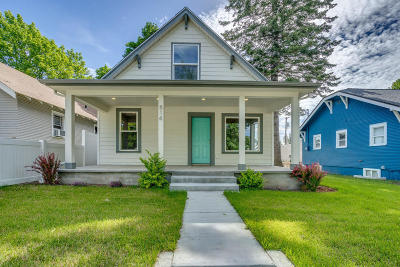 Coeur D'alene Single Family Home For Sale: 814 N 3rd St