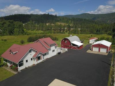 Shoshone County Single Family Home For Sale: 42297 Silver Valley Rd