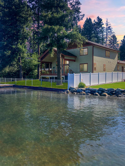 Coeur D'alene Single Family Home For Sale: 6455 W Harbor Dr