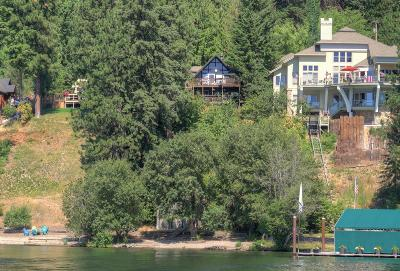 Coeur D'alene Single Family Home For Sale: 6836 W Rockford Bay Rd